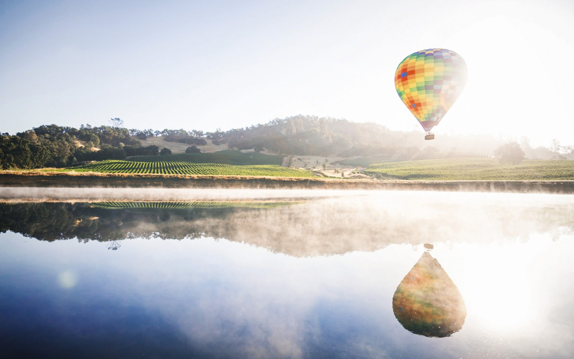 Napa Valley travel guide: see Napa from the sky in a hot air balloon