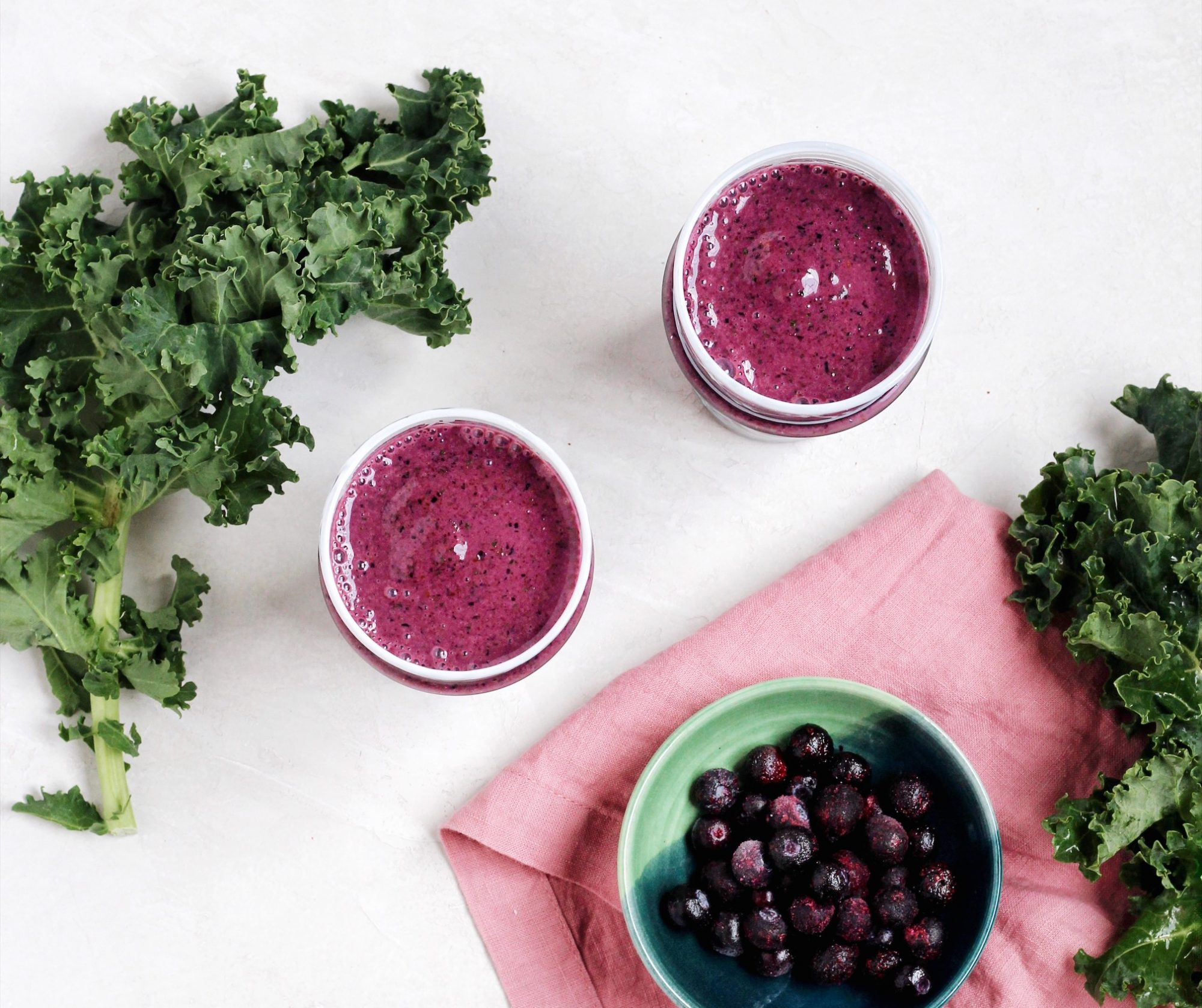 a Blueberry Kale Smoothie is a healthy way to start the day