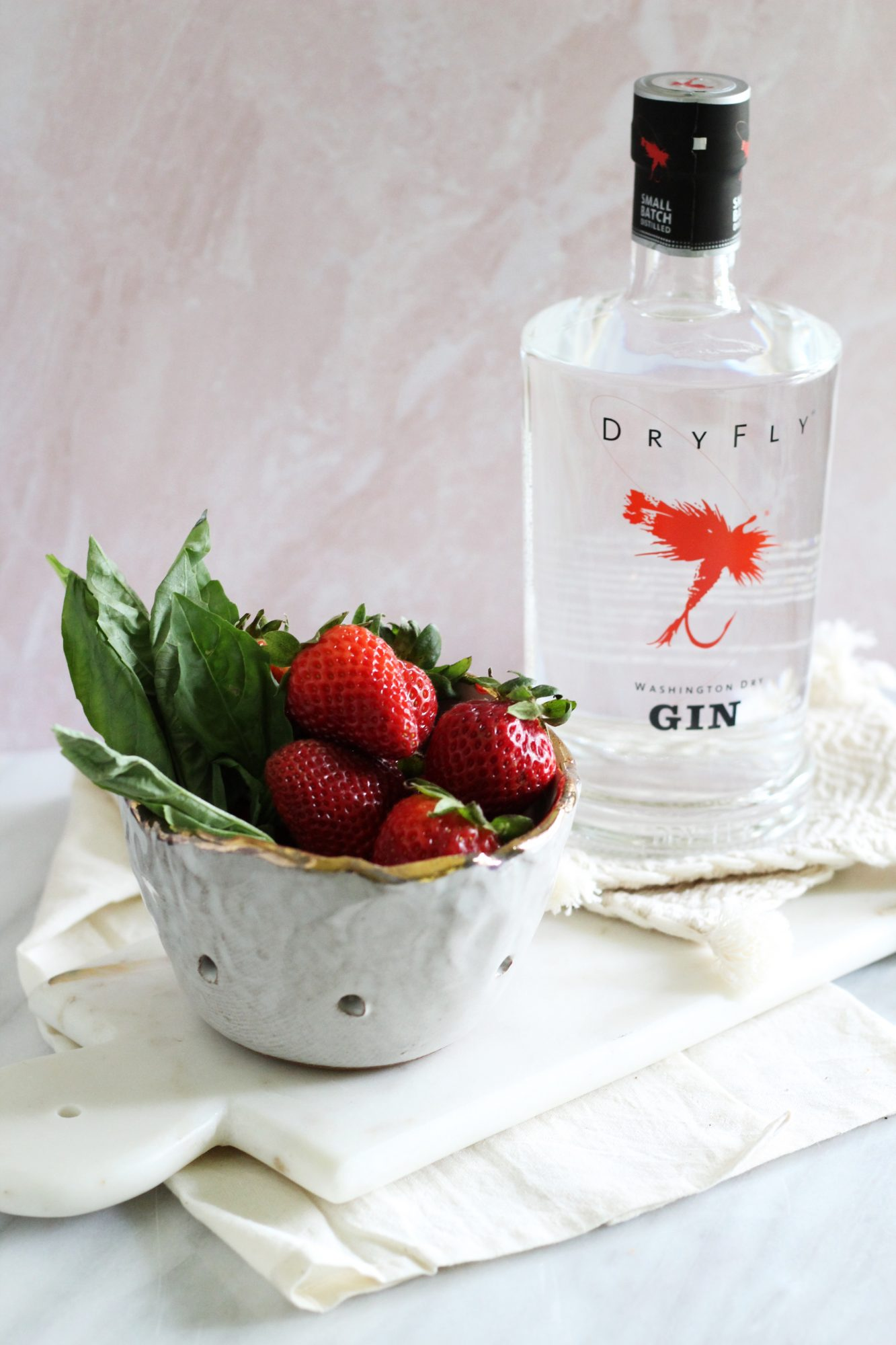 Dry Fly Distilling gin makes for excellent cocktails like a gin basil smash