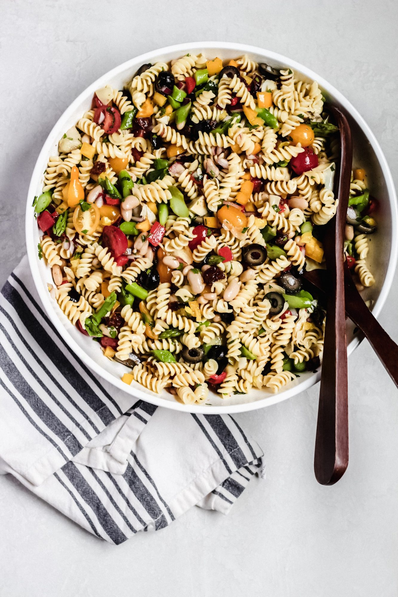 vegan and dairy-free pasta salad