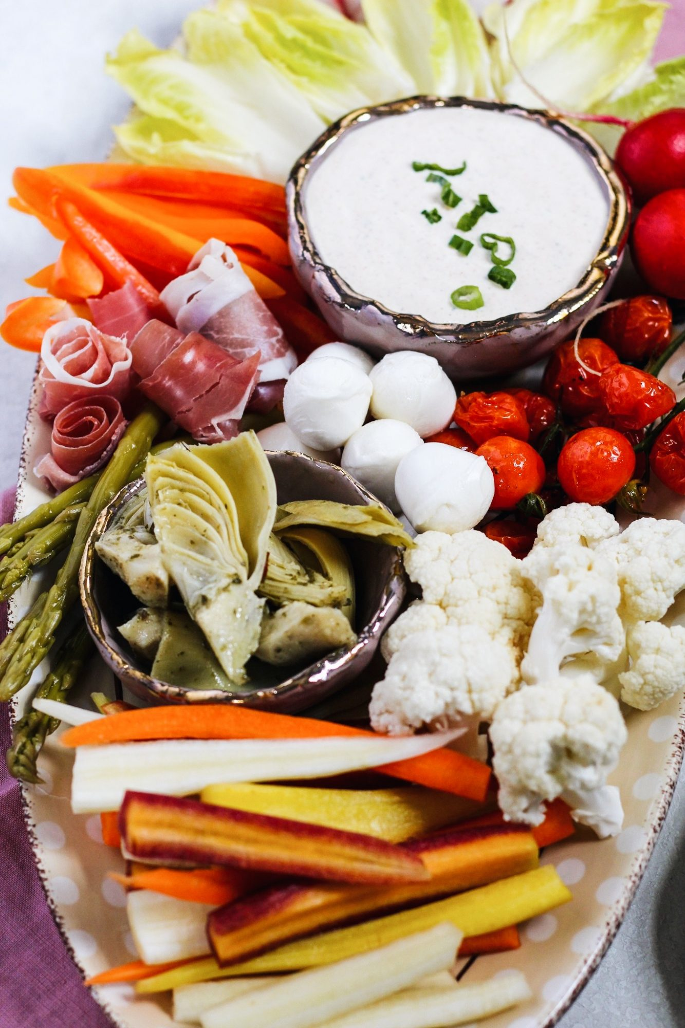 How to make a crudités platter for a crowd