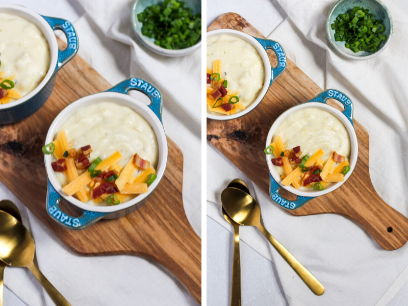 Pressure cooker potato soup is rich, creamy and delicious