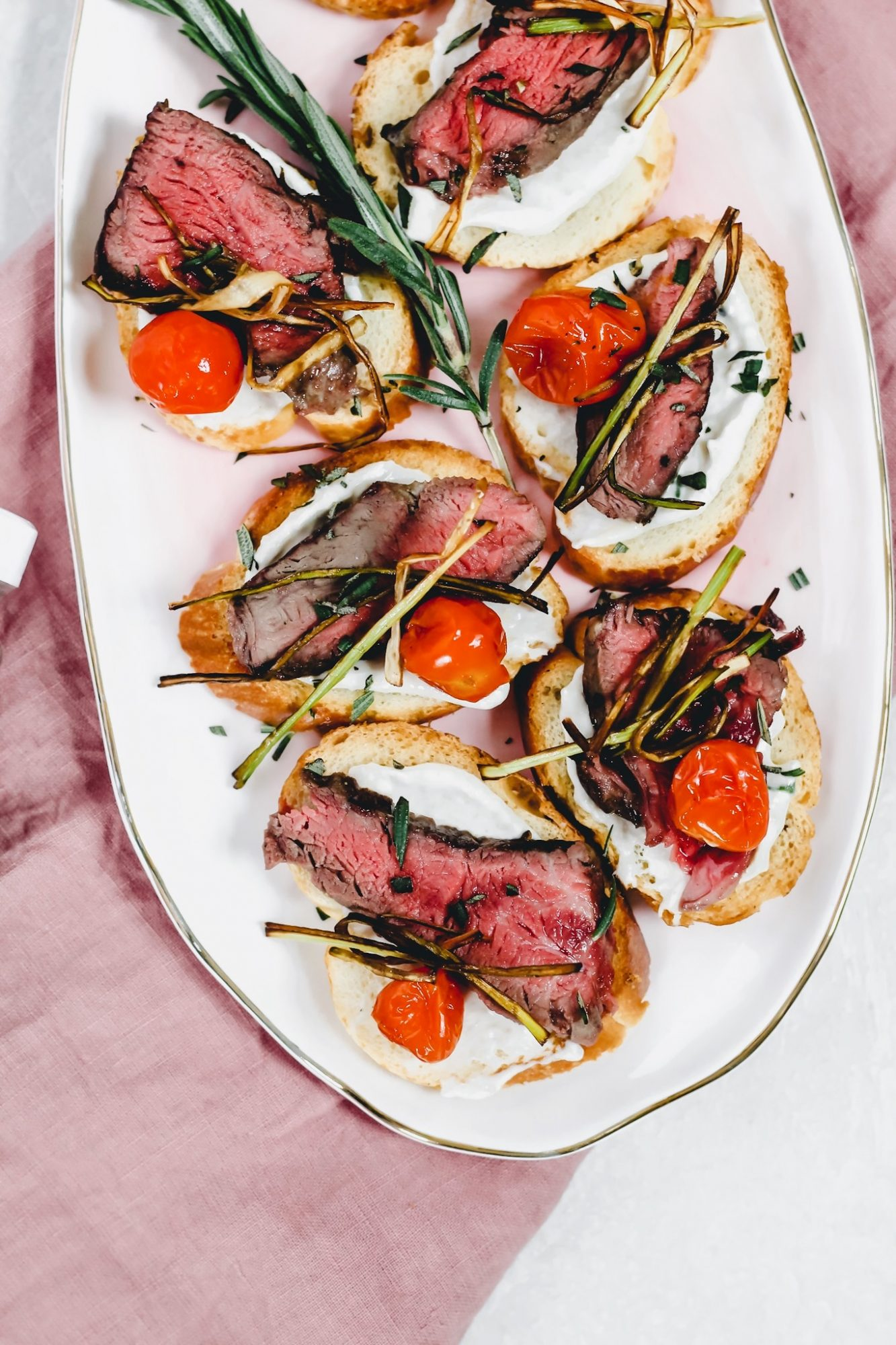 Decadent crostini for your holiday party