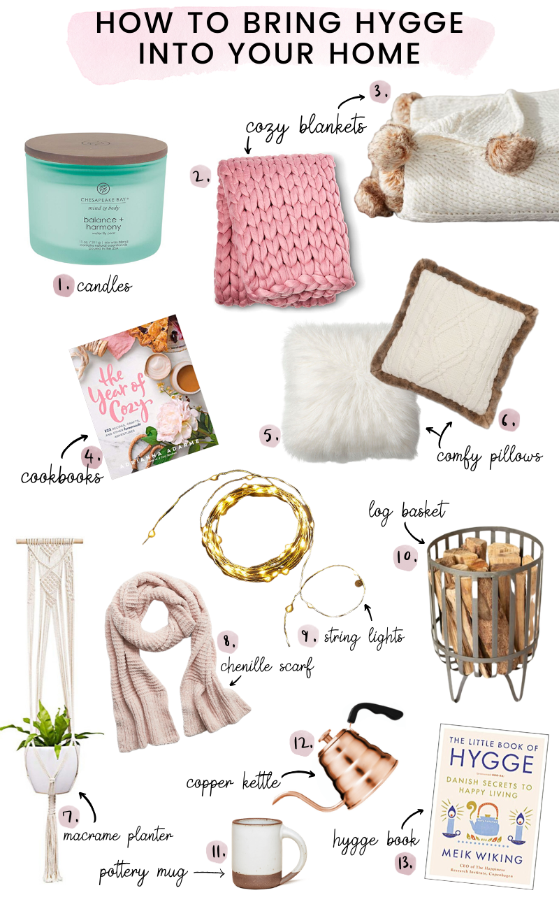 hygge decor for a cozy home