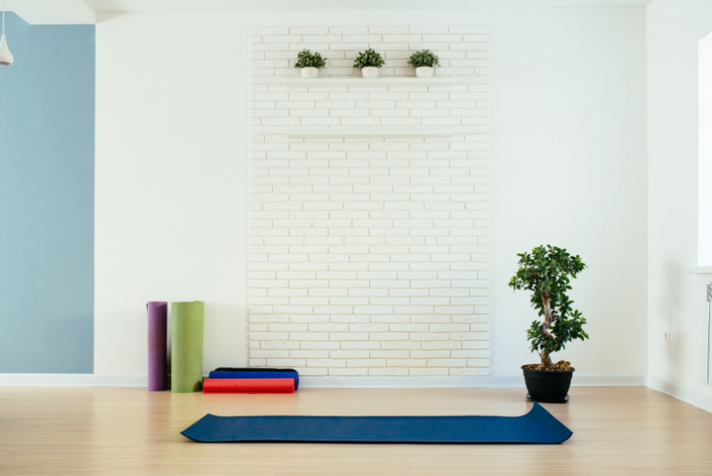 create a multi-purpose space you can devote to your health and happiness