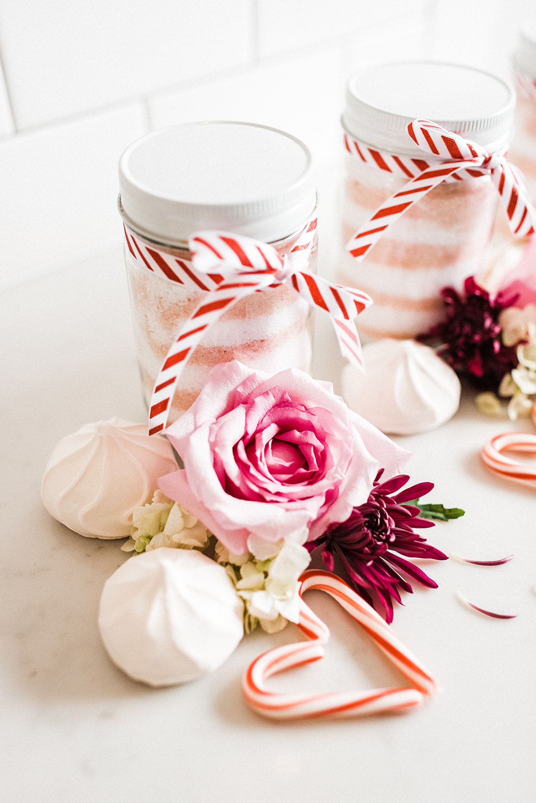peppermint bath salts for a DIY Christmas gift