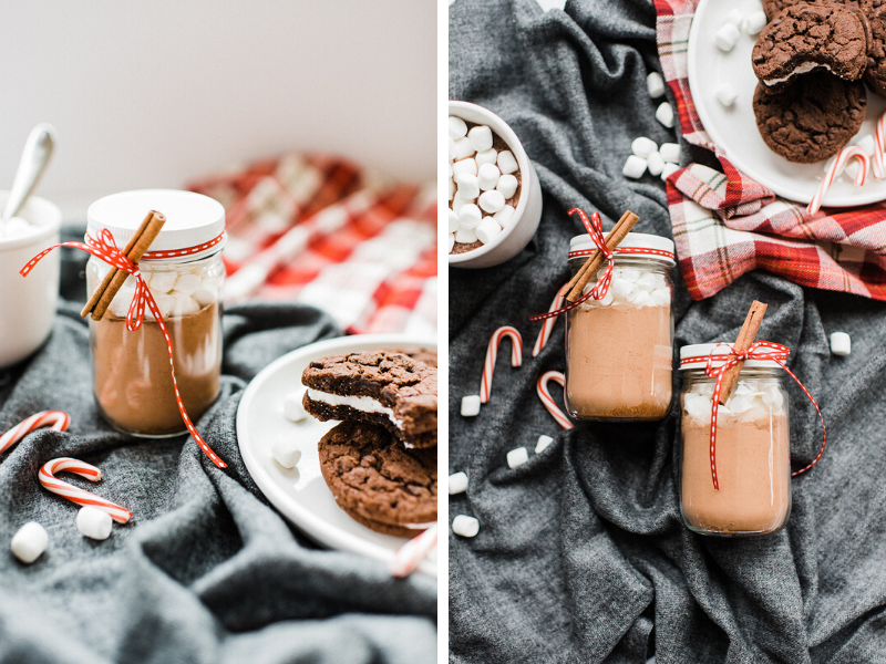 DIY hot cocoa mason jars are perfect for gifting