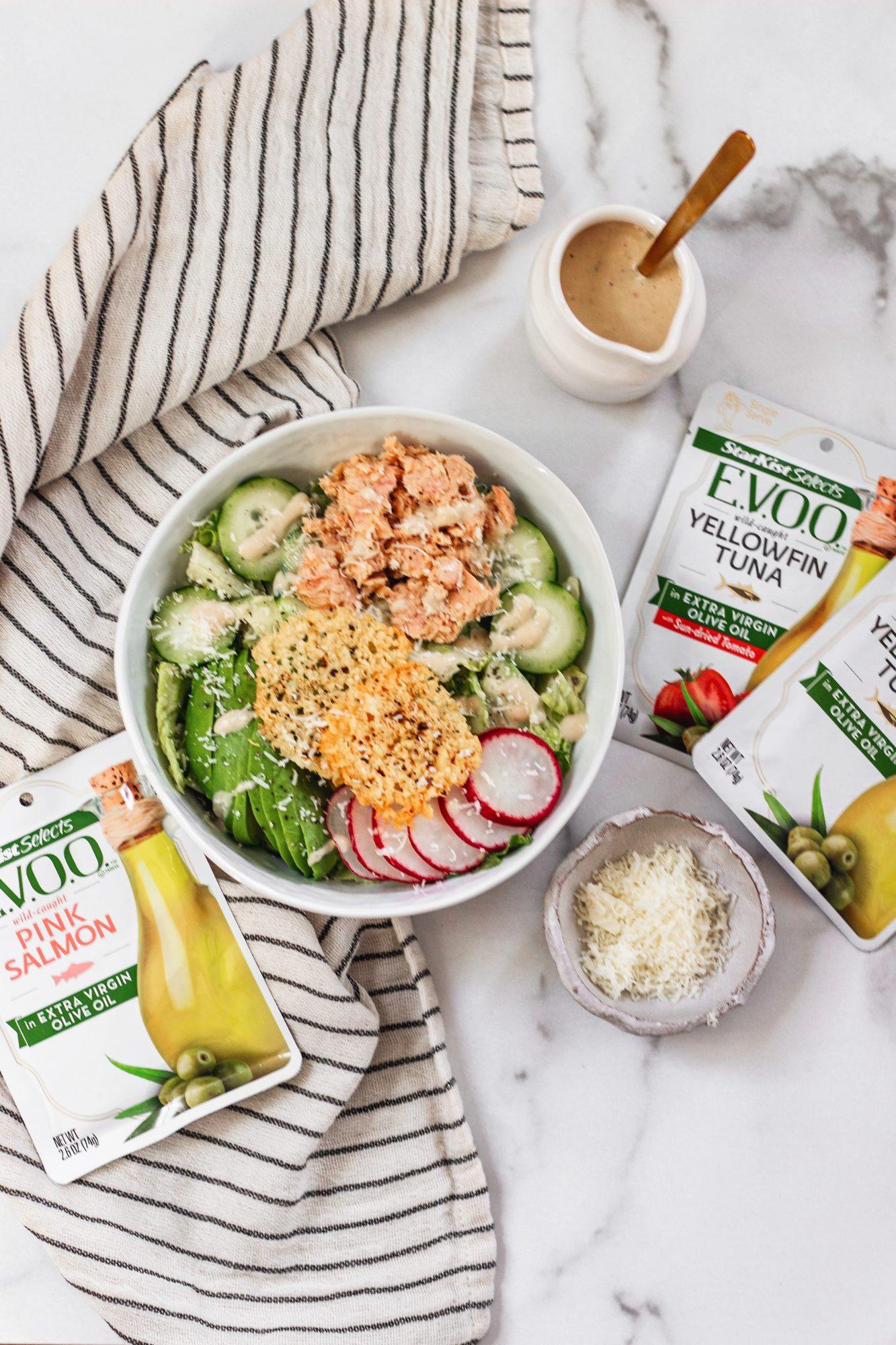 StarKist E.V.O.O Salmon makes a great Caesar salad