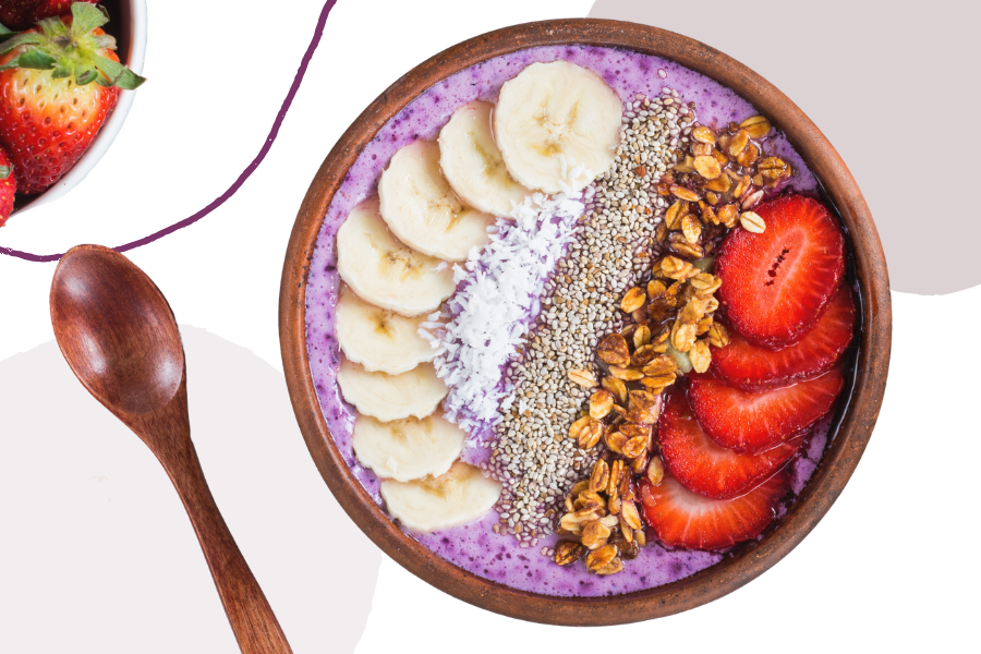Try an açaí bowl for a dose of healthy nutrients