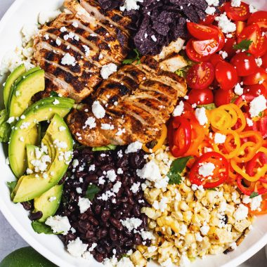 Southwestern salad with grilled chicken
