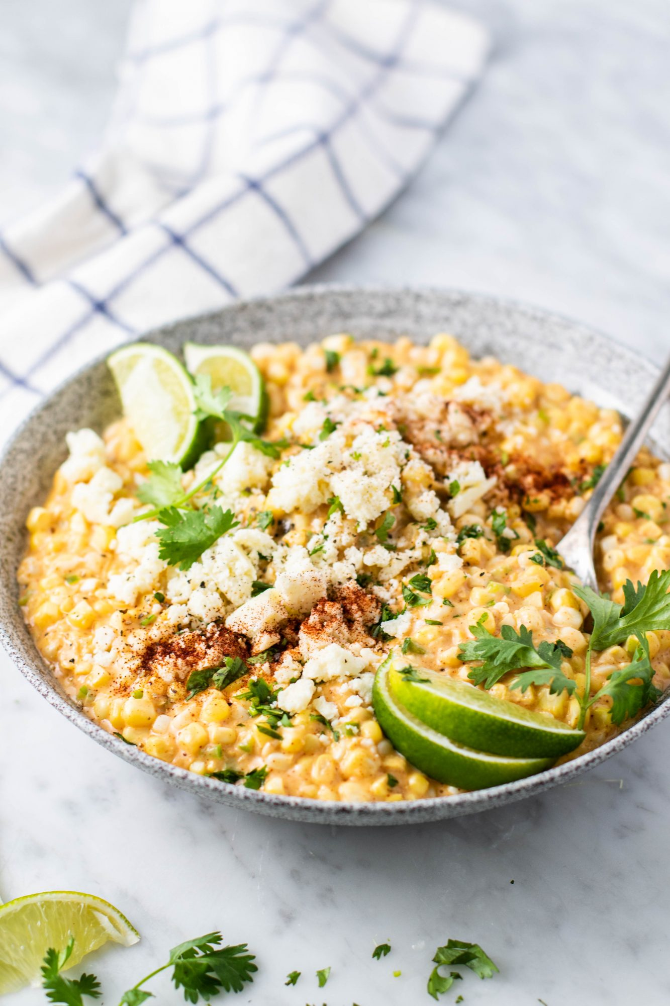 corn made with cotija, spices, jalapeño, and cilantro