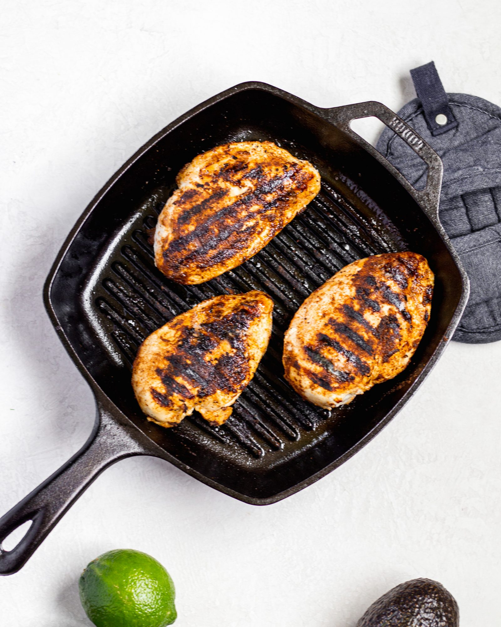 Seasoned grilled chicken for salads