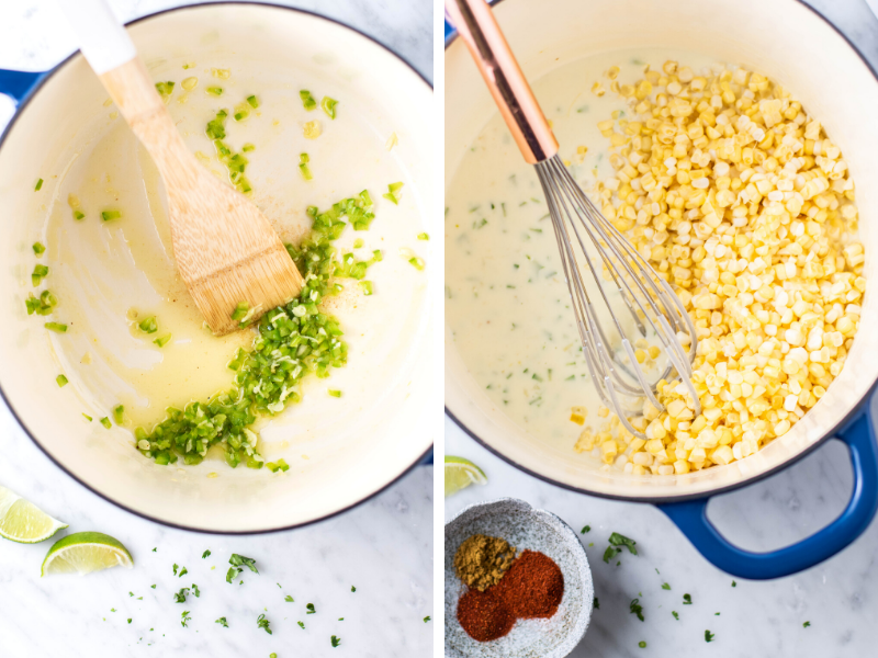 how to make Mexican creamed corn