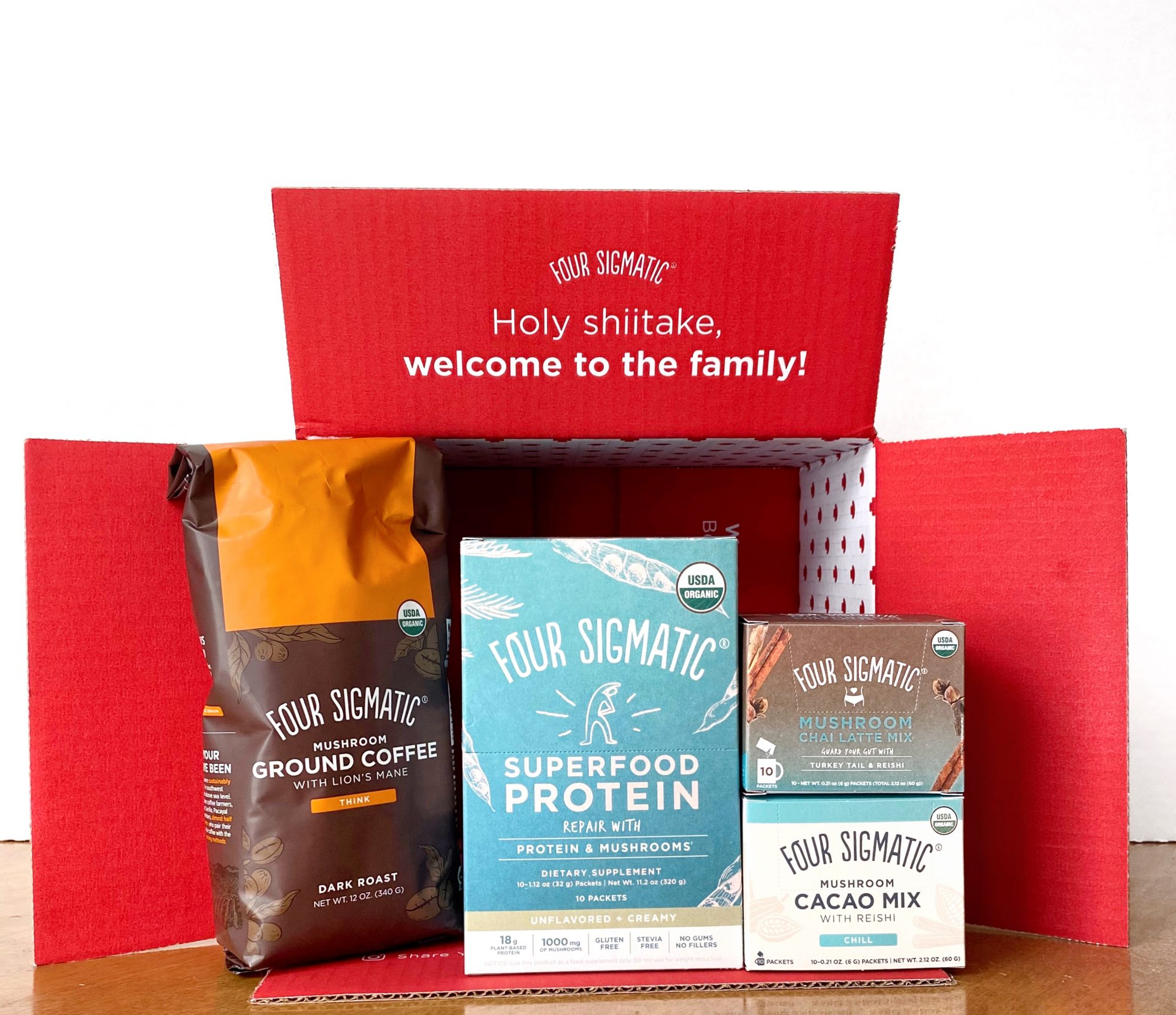 review of Four Sigmatic mushroom coffee and products