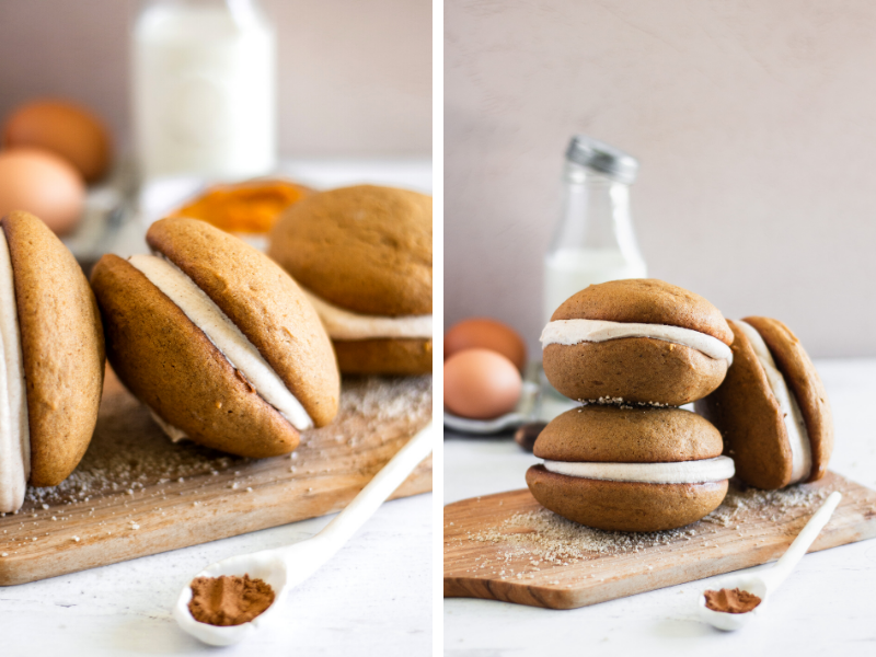 pumpkin spiced whoopie pies