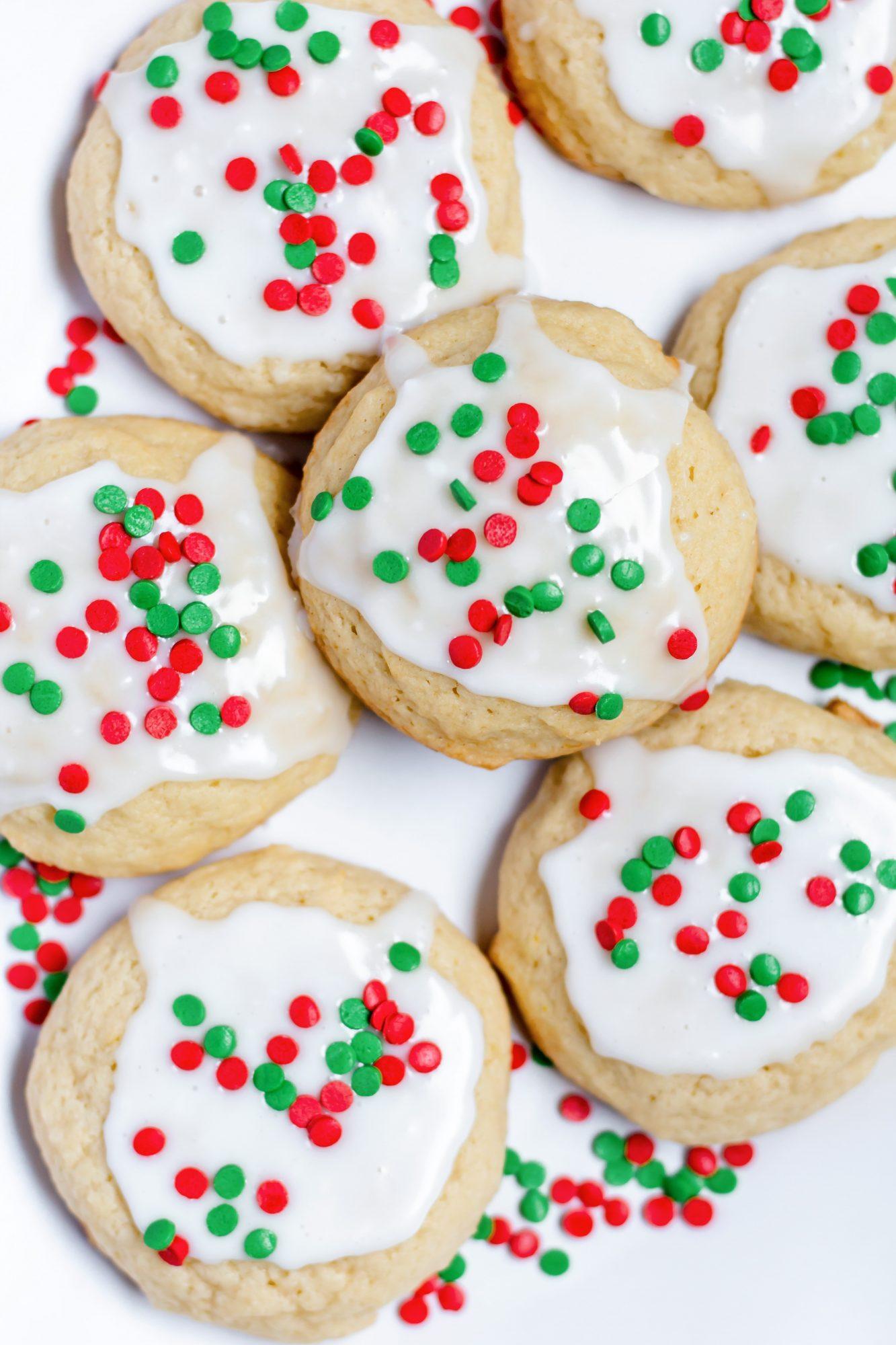 sour cream cookies with lemon glaze