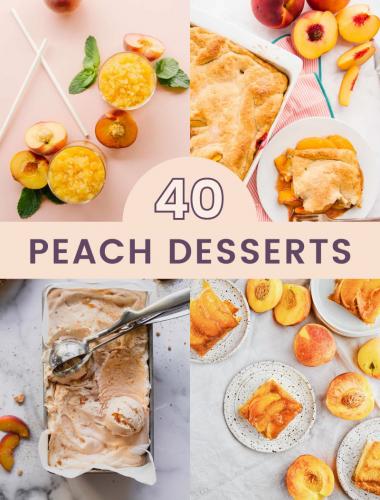 40 peach desserts
