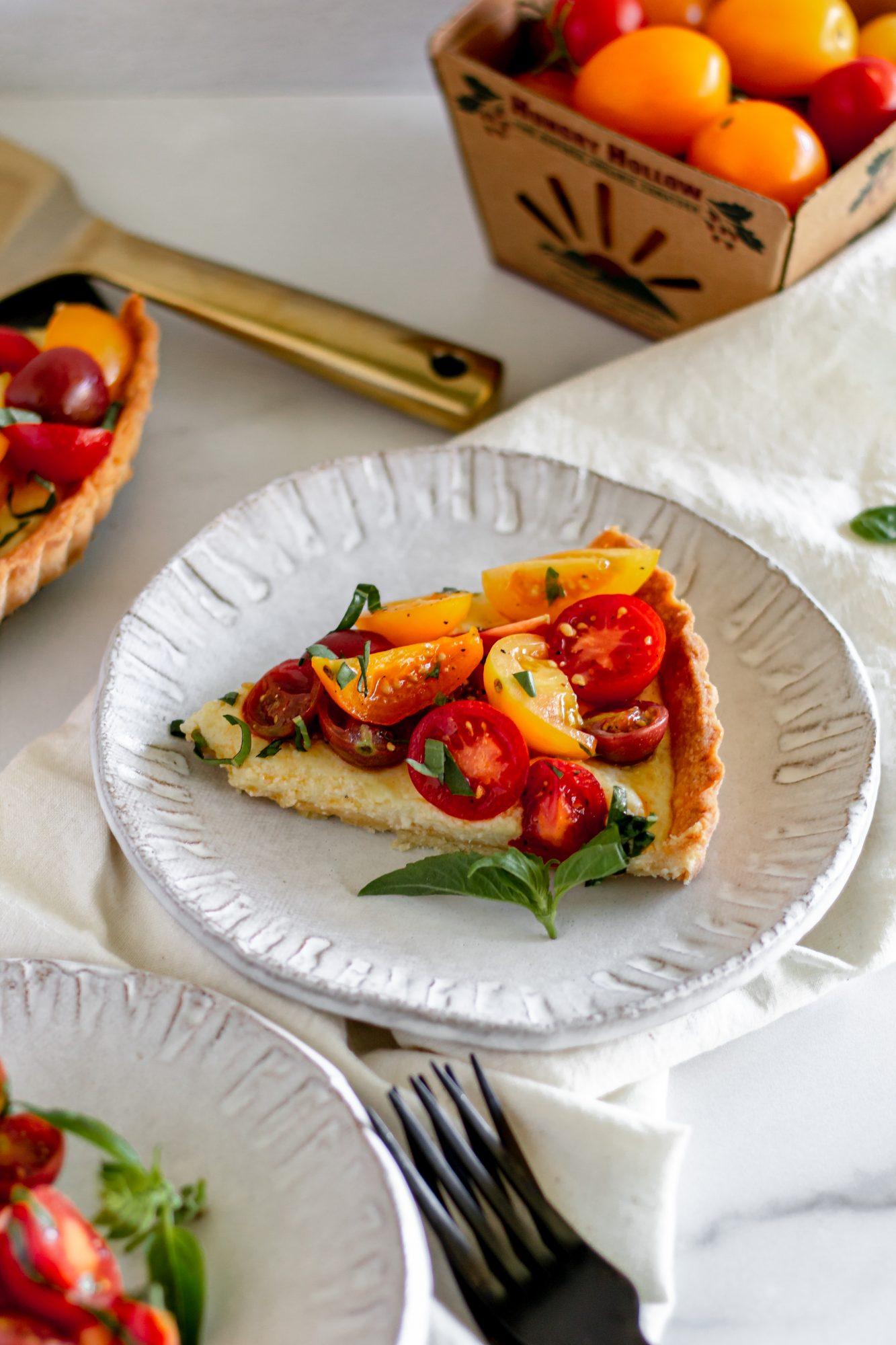 slices of tomato pie