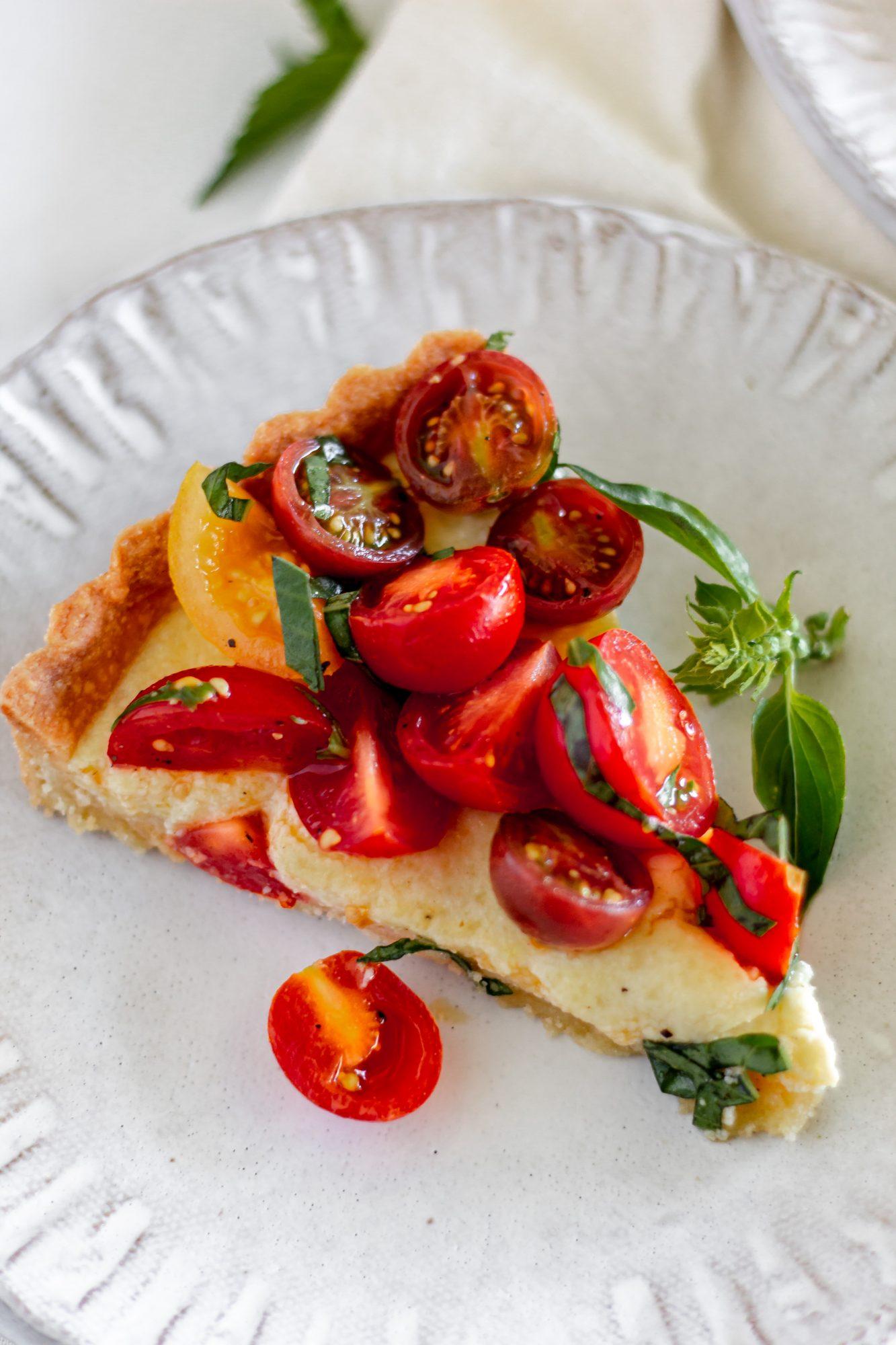 slice of ricotta tomato tart