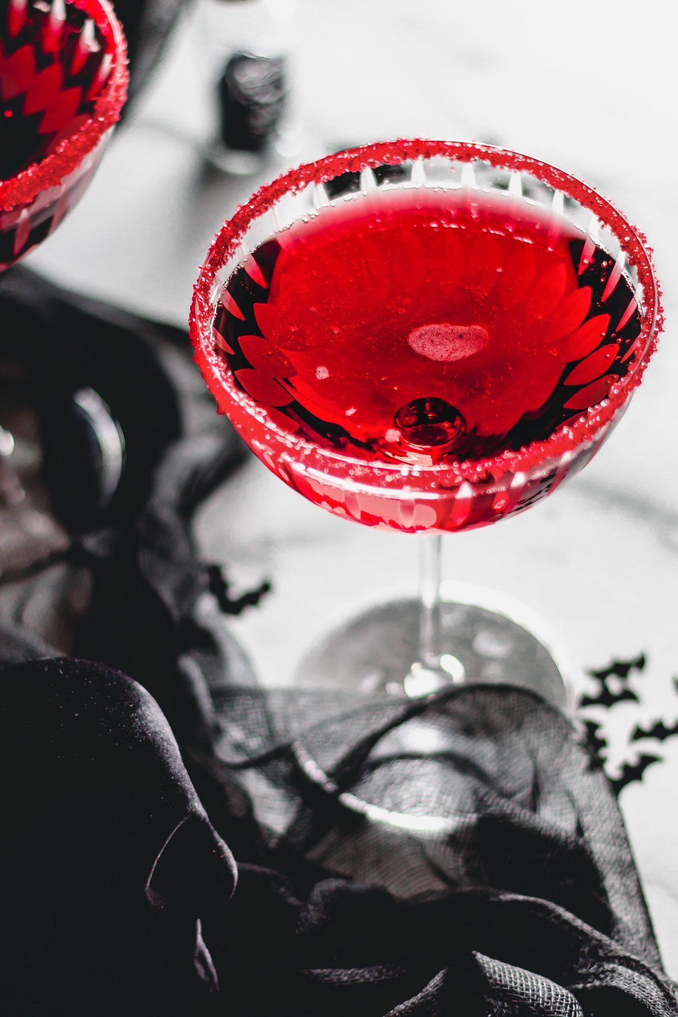 a halloween martini: Vampire's Kiss cocktail